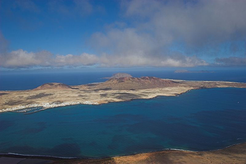 La Graciosa as seen from the Mirador Del Rio on Lanzarote