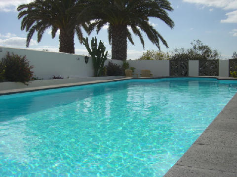 View across 11m x 4m Private Pool (Heated in Winter)