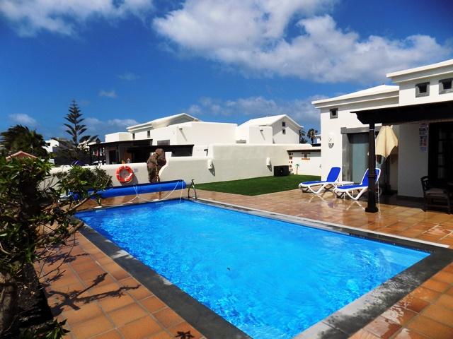 8m x 4m private heated Pool