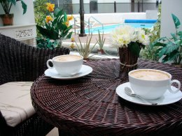 Relax with Coffee in the Atrium Area