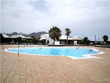 View across alegranza Communal Pool