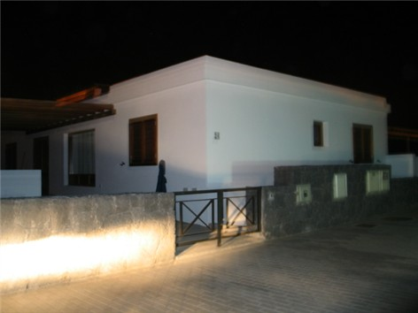 Front Entrance to villa at night