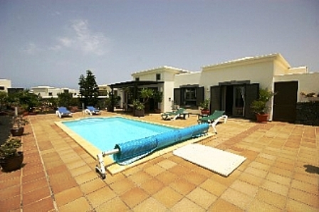 Spacious Terrace around the 8m x 4m Electrically heated Pool