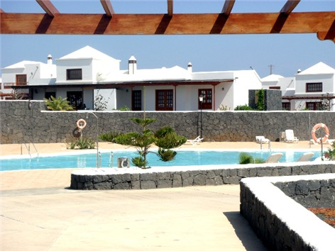 View from the entrance towards communal pool