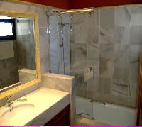 En-Suite, Bath with Shower Over