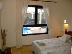 Twin Bedroom overlooking Pool/Terrace