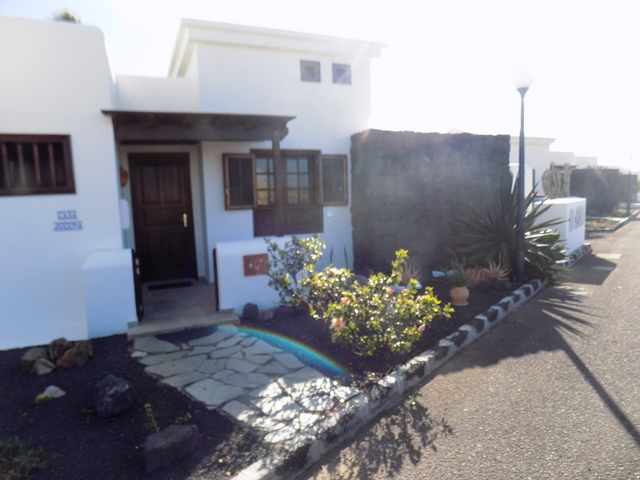 Front Entrance to Villa with Mature Canarian Garden to both sides