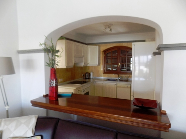 View of Kitchen across breakfast bar