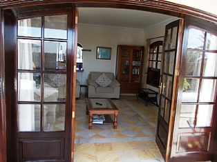 French doors to Lounge