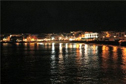 Playa Blanca at night