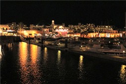 Marina Rubicon at night