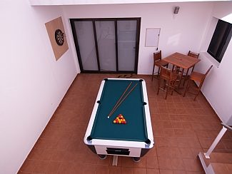 Downstairs Terrace / Games Area