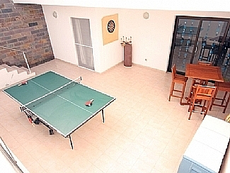 Downstairs Patio / Games area