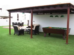 Side of Villa - Relaxation Area / Pool Table