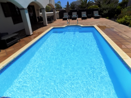 View across the 8m x 4m Private Pool