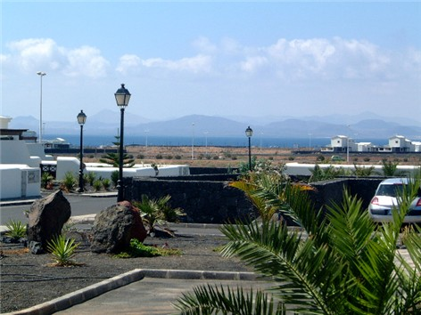 View from the Terrace across sea towards Fuerterventura