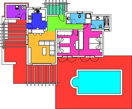 Floor Plan of Casa Maria