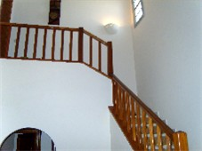 Hallway stairs leading to Master Bedroom Suite