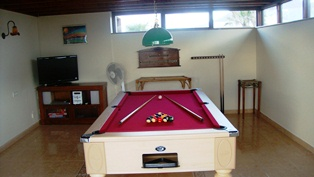 UK 8 Ball Pool Table in Games Room