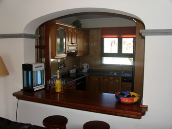 View from Lounge to Kitchen showing Breakfast Bar