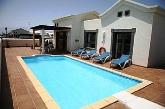 View across Private Heated Pool towards Villa Therese